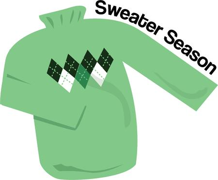 sure: Here comes fall.  Get out the sweaters and bundle up.  This argyle is sure to be a fav! Illustration