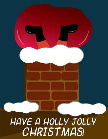 saint nicholas: Oh no Santa is stuck in this snow covered chimney
