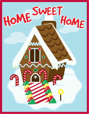 gingerbread: The perfect gingerbread house covered with snow and sweets adds a unique charm to your holiday home.   Illustration