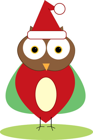 holiday tradition: Add a trendy touch to holiday tradition with this Santa hat owl.