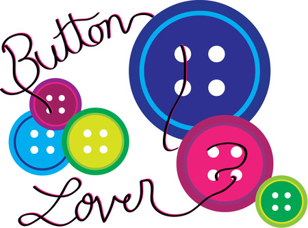 stocked: Buttons in every color are standard to any well stocked sewing box.
