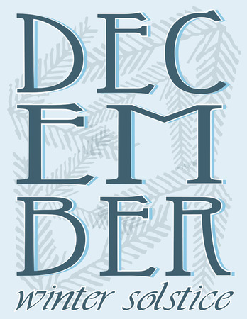 a bough: Mark December, the most festive month of the year with this pine bough filled graphic.  Makes lovely holiday cards.