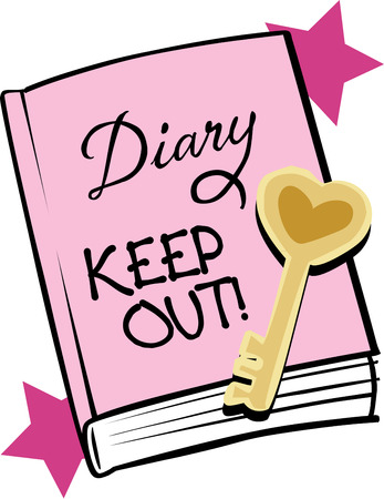 diary: Collect and remember everything you love. Express yourself in a pretty pink diary.  Remember to lock your secrets.  Fun for tween age decor