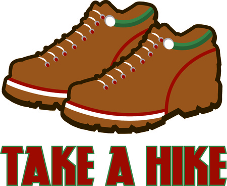 hiking shoes: Want jump high then pick Hiking shoes.  Decorate a shoe bag for your special footwear. Illustration