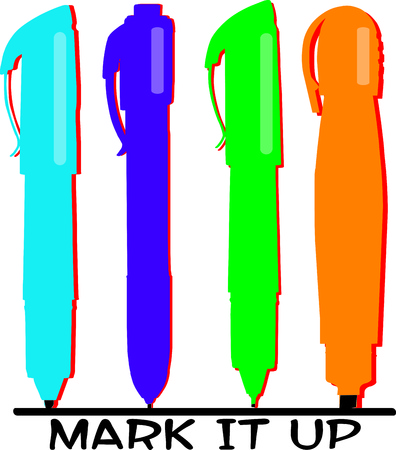 writing instrument: Colorful pens make the artists work easier and brighter.   Illustration