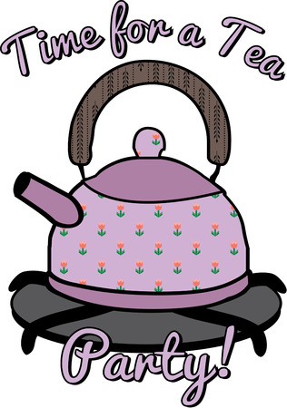 stove top: Your morning spot of tea need not come from a typical pot when you can choose a lovely floral tea pot