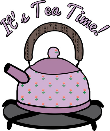 stove top: Your morning spot of tea need not come from a typical pot when you can choose a lovely floral tea pot  Illustration