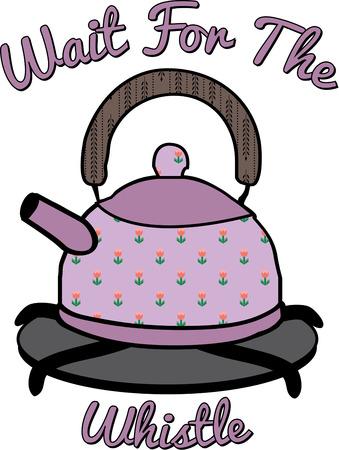 stove top: lovely floral tea pot