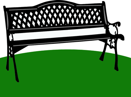 divan: A lovely park bench is the perfect place to relax and reflect.