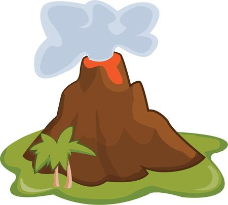 rupture: A tropical island with a volcano, must be paradise!  Add this unusual touch of paradise to your next island project. Illustration