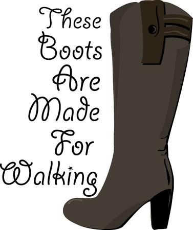 high heeled: Love these high heeled boots  Illustration