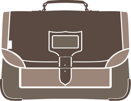 accessory: A smart leather briefcase makes a statement before its owner speaks a word.  A lovely and trendy accessory for any professional Illustration