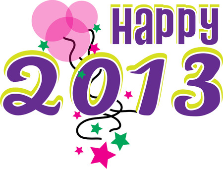 end of year: Celebrate the end of one year and the start of the new year. Illustration