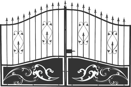 cast iron: An amazing destination awaits behind this ornate iron gate