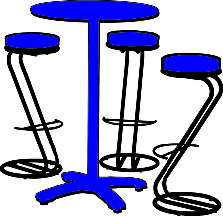 interesting: An interesting bistro set is the perfect addition to your bar.  The interesting shape of the stools make this design a real stand out!
