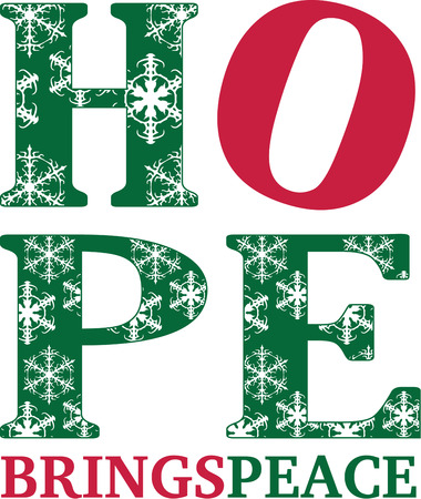 communicated: Hope the message of the Christmas season is communicated in striking graphic form in this pretty design.