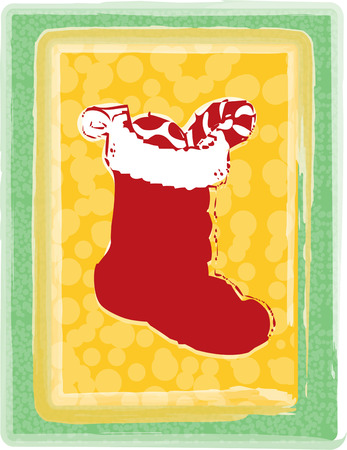 stuffer: A stocking filled with goodies from Santa awaits on Christmas morning.