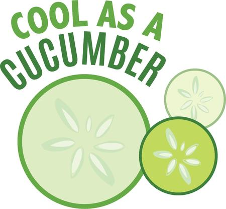 dcor: Add juicy cucumbers to your kitchen d?cor.
