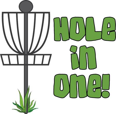 accent: Accent a  golf bag with this goal. Illustration