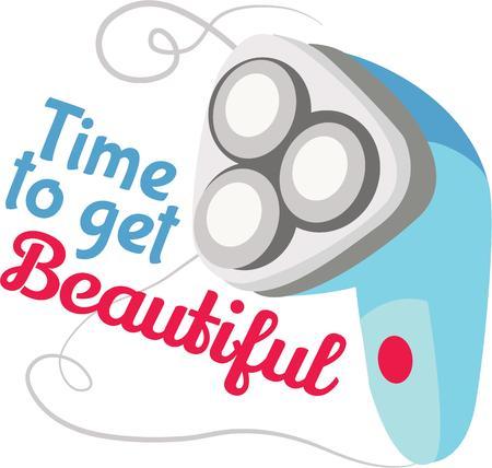 rasoir: Avoir un rasoir �lectrique sur une serviette pour une d�coration de salle de bains.