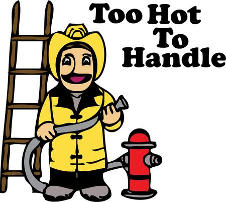 heros: Firemen are heros and look good on any project. Illustration