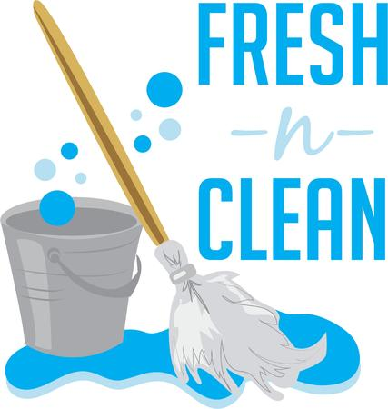 swab: Keep your house clean with a good mop and bucket.