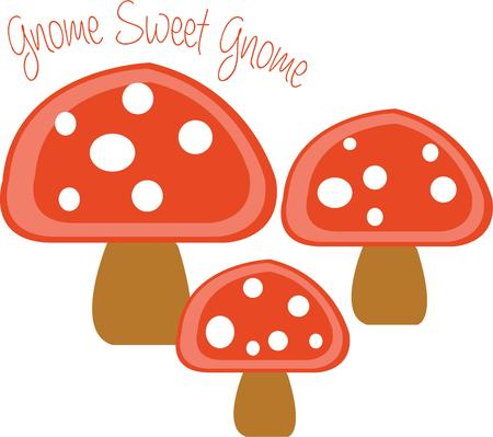 whimsy: Add special little mushrooms for a touch of whimsy.