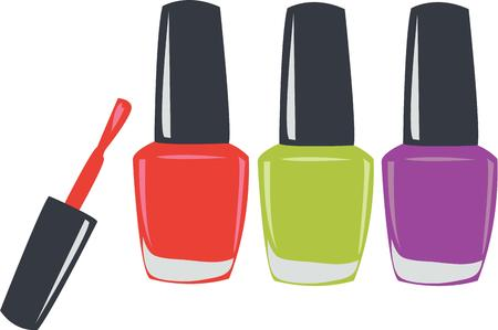 cosmetic lacquer: All girls want to look beautiful and like to have colorful makeup.