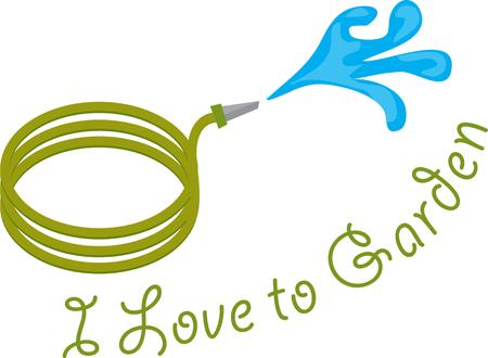 water hose: This water hose provides water for the garden and water for the gardener!  What a perfect way to decorate for your fav gardener.