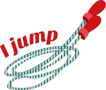 grown up: Jumping rope is a favorite activity on the playground.  It is also a wonderful exercise for the grown up.  Great design for both school bags and gym bags for young and old.