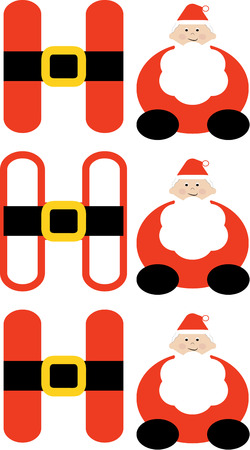 kris kringle: Happy from Santa himself  These artistically created letters add imagination and holiday cheer to your special Christmas projects