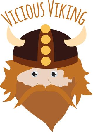 norse: This Viking rules over his Scandinavian kingdom.  His horned cap makes an interesting crown  Try this design on kids gear or toy boxes for a rustic royal touch