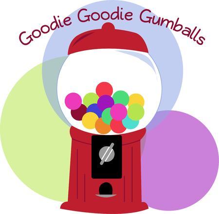 distribution automatique: Un fond d'orbes color�s entourent cette machine pleine de bonbons color�s. Parfait pour les engins de gosse comme les sacs � dos ou des bo�tes � lunch.