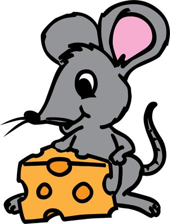 cute creature: A cute little mouse has found a prize in this cheese wedge.  This cute creature is sure to take any project from plain to just plain cute.
