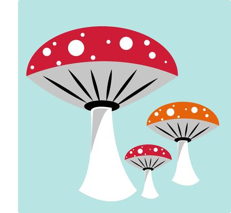 decorative items: Colorful mushrooms add their own brand of charm to your creations.  Love this trio on decorative items like throw pillows.