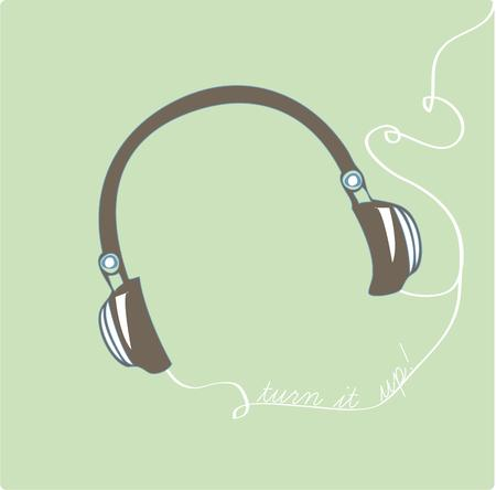Listen to your music at a loud volume and disturb no one with these headphones.  Perfect to add to a music case Vector