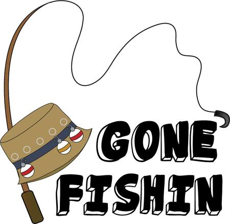 fishing tackle: Fishermen will love a great hat and pole to spend a day on the lake.
