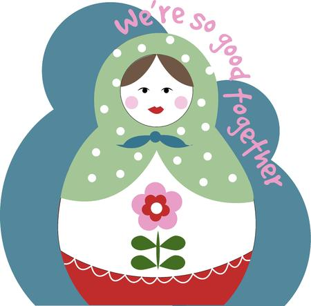 babushka: Simply precious.  This nesting doll brings her simple charm plus her nested versions to your crafty projects.