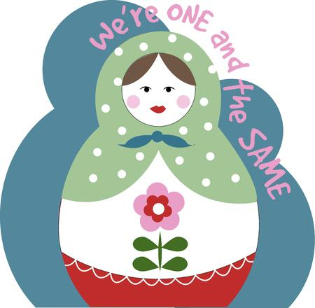 nesting: Simply precious.  This nesting doll brings her simple charm plus her nested versions to your crafty projects.