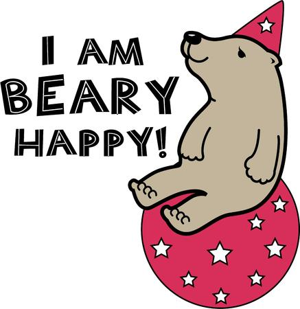 big top: A circus bear will make a great decoration for a nursery.