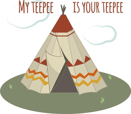 teepee: A classic Indian teepee is a great way to add the charm of the Southwest.  Great on apparel or decorative items.  Makes super pretty pillows