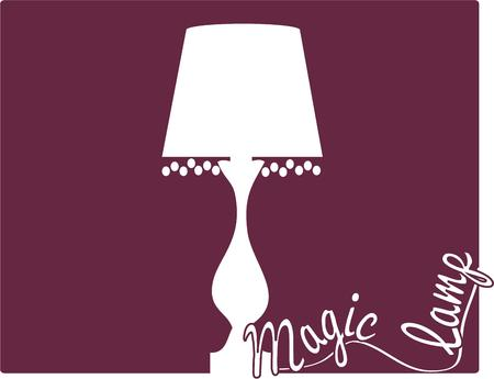 lampshade: A classic fringe trimmed lamp in one color creates a striking silhouette.  Makes an interesting decoration for a throw pillow.