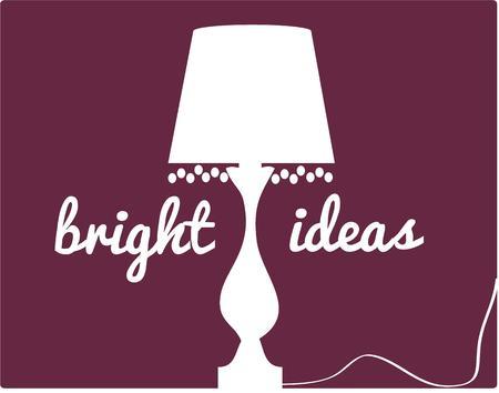 furnishing: Een klassieke franje getrimd lamp in één kleur creëert een opvallend silhouet. Maakt een interessante decoratie voor een inworp kussen. Stock Illustratie