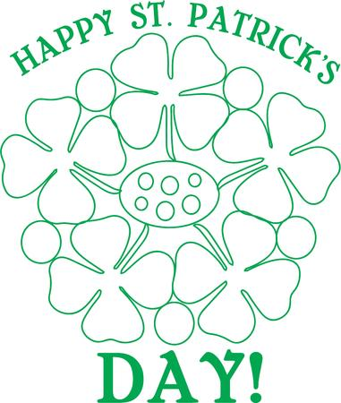 paddys: Celebrate Saint Paddys day with a bunch of shamrocks.