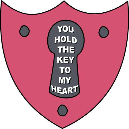 fastener: You can only imagine what secret treasures hide behind this big lock.  Create a treasure and finish it up with this big pink lock.