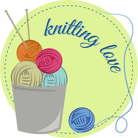 sewing box: Heres a special patch for your best knitter.  Add the yarn and needles to a bag or a sewing box to create an amazing gift