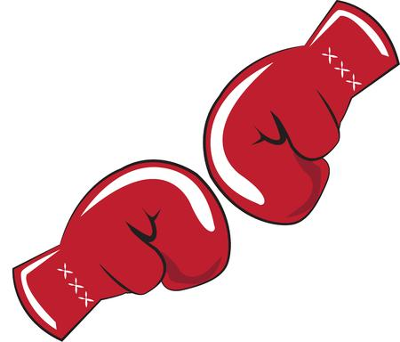 knock out: Boxing Gloves Illustration