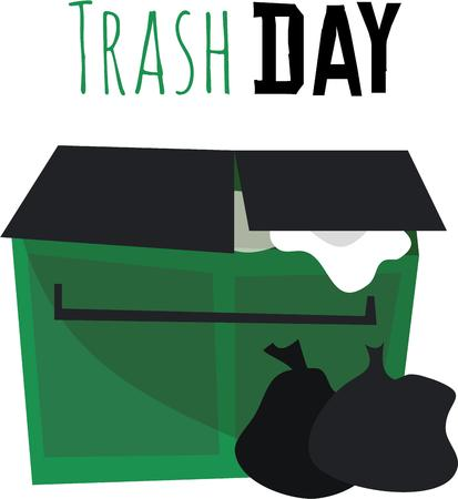 dumpster: Help save the earth by recycling.