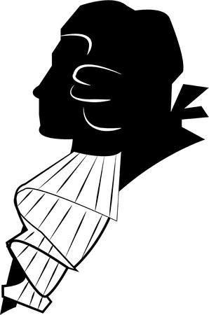 proper: Una silhouette di una corretta signore aggiunge il suo fascino wigged per i vostri progetti pi� creativi. Perfetto per borse libro o sacchetti garmenat signorili.