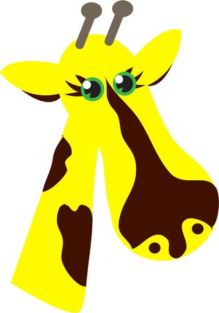 ruminant: Im a giraffe. I even walk like a giraffe with a long neck and legs. What a perfect way to dress up kids apparel. Illustration
